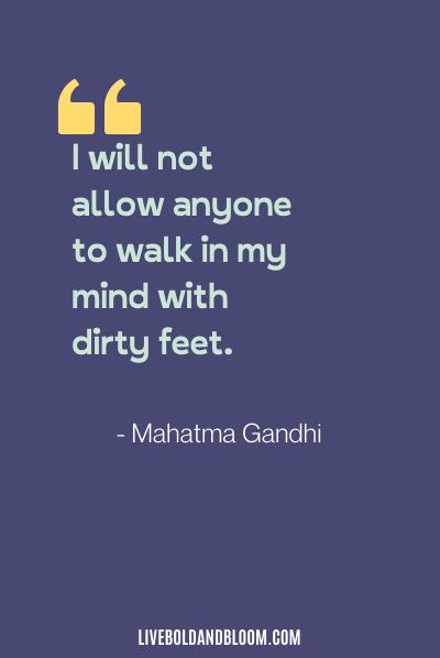 toxic relationship quote by Mahatma Gandhi