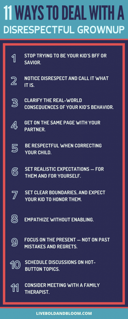 ways to deal with a disrespectful grown child