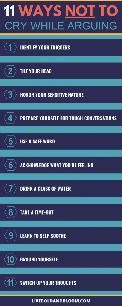 11 ways not to cry while arguing