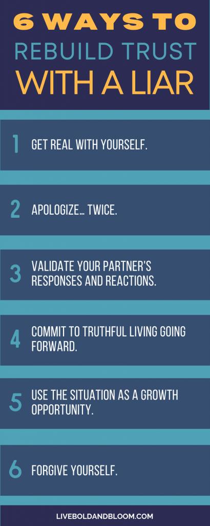 ways to rebuild trust with a liar