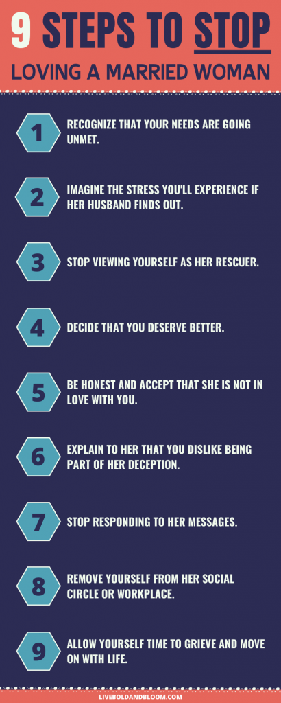 9 steps to stop loving a married woman