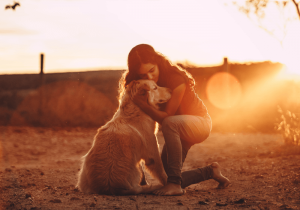 woman and dog, empath quotes