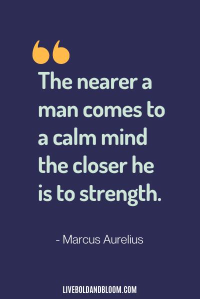calming quote by marcus aurelius