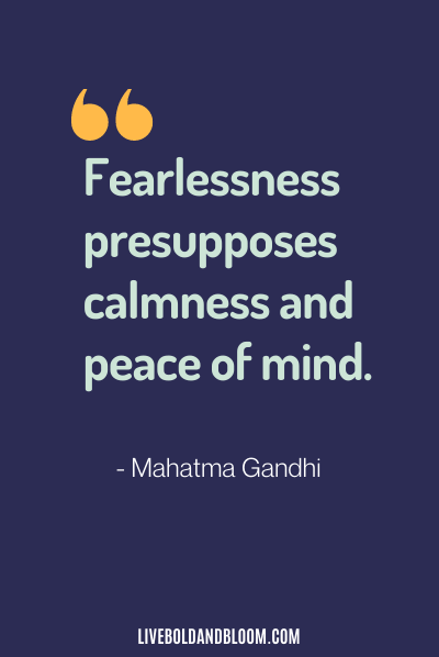 calming quote by mahatma gandhi