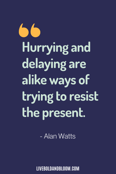 calming quote by alan watts