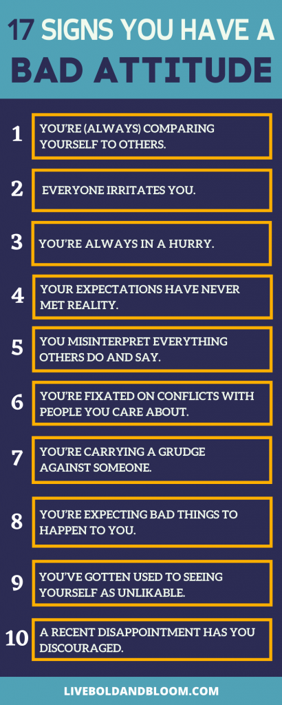 signs you have a bad attitude