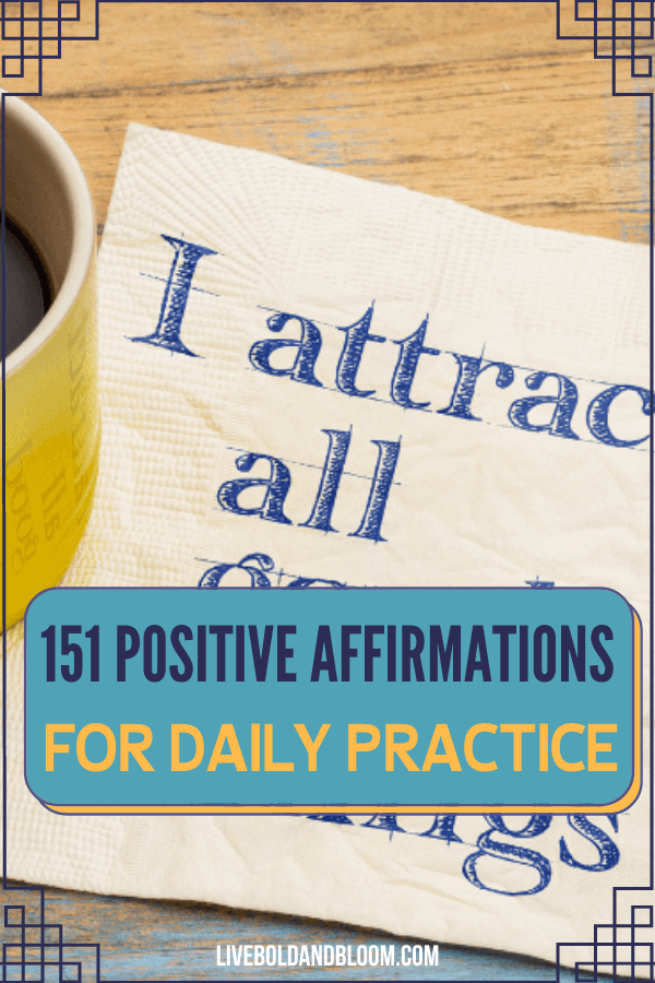 Positive affirmations to overcome negative thoughts and inspire your life. Enjoy this collection of positive affirmations and practice them daily.