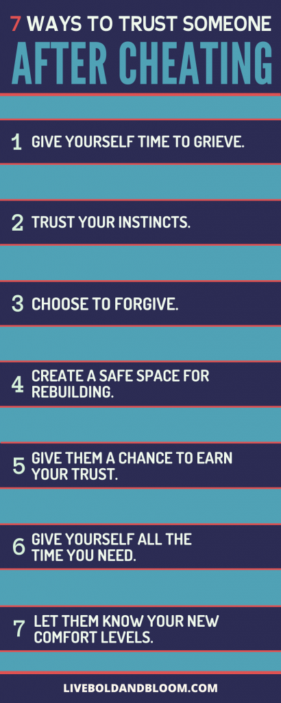 how to trust someone after cheating