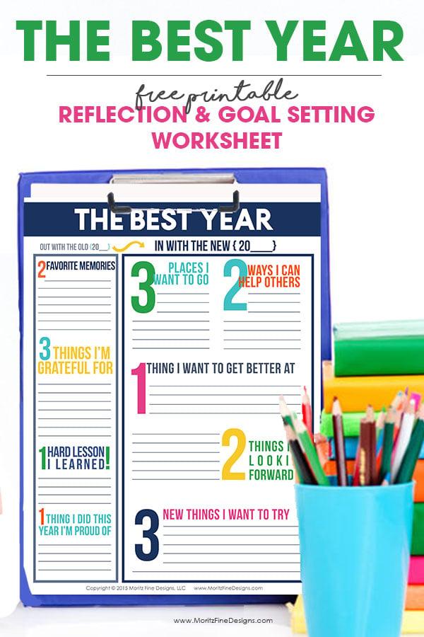 """12. """"The Best Year"""" Printable Worksheet (via Moritz Fine Designs)"""