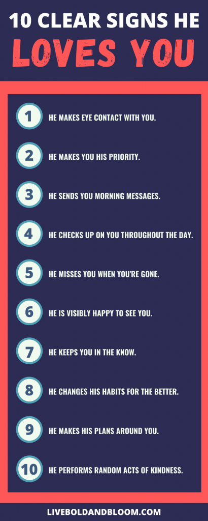 signs a guy loves you