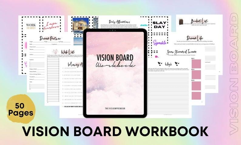 26. Etsy Vision Board Templates