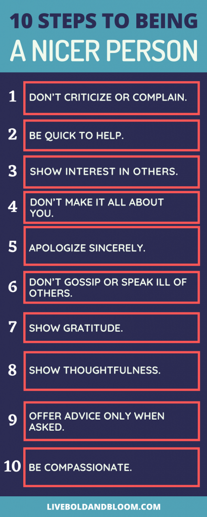 how to be a nicer person