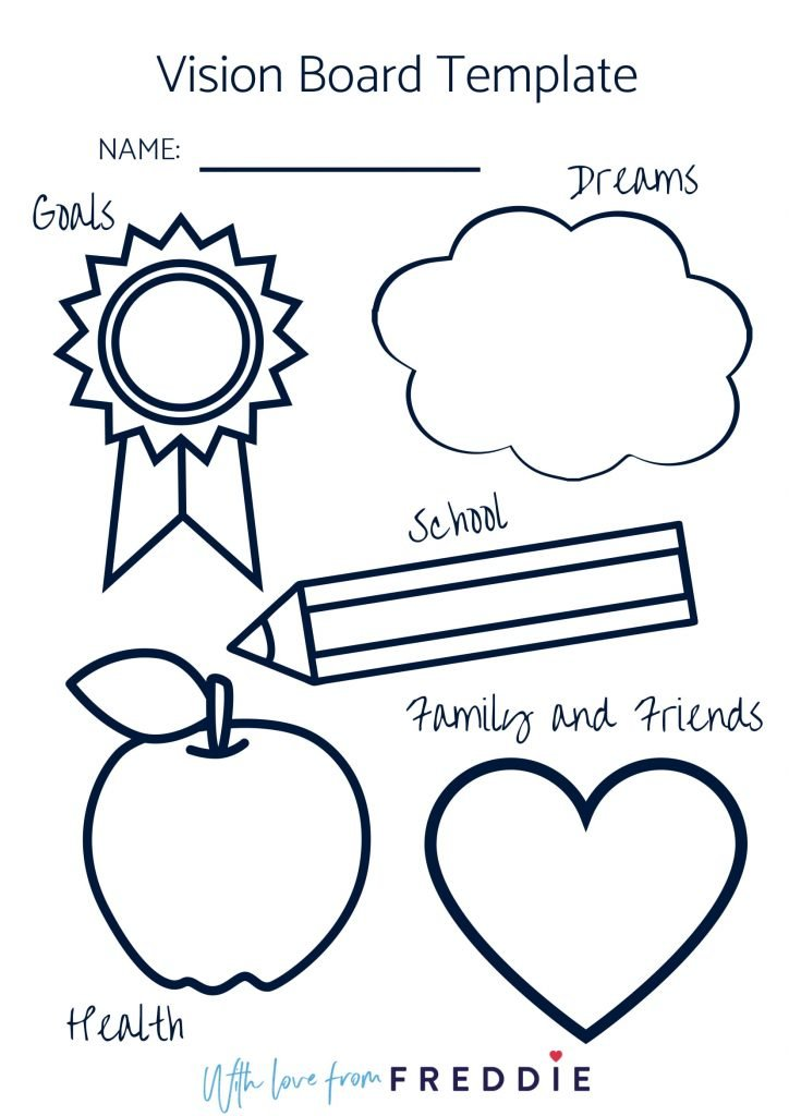 17. Kid's Vision Board Template (via With Love From Freddie)