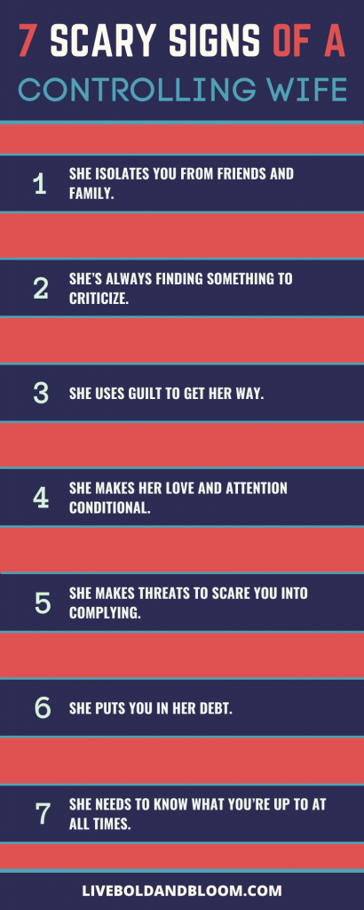 7 scary signs of a controlling wife
