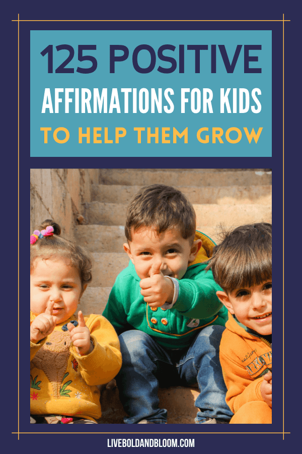 Help your children or students have a growth mindset, have more confidence, and reduced stress with these 125 positive affirmations for kids.
