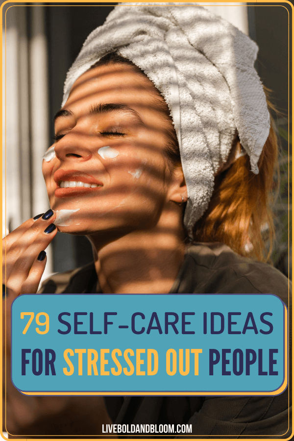 Take care of yourself with this list of self-care ideas you'll love. Release stress and anxiety and discover new ideas to take better care of yourself.