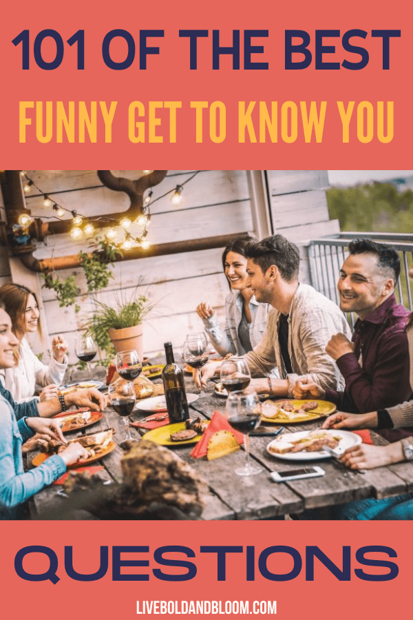 If you're looking for some funny get to know you questions, you're in the right place. However long you've been putting yourself out there and meeting new people — possibly with the hope of meeting the love of your life — it helps to have some ice-breakers handy.