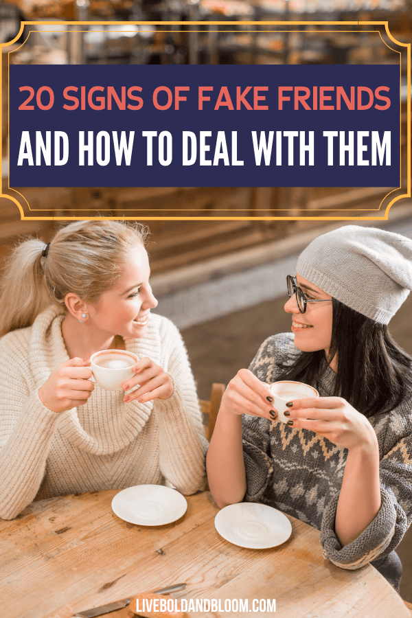 Learn to spot real friends vs fake friends and know the signs. Learn how to recognize superficial friends and move on to choose real friends that will last.
