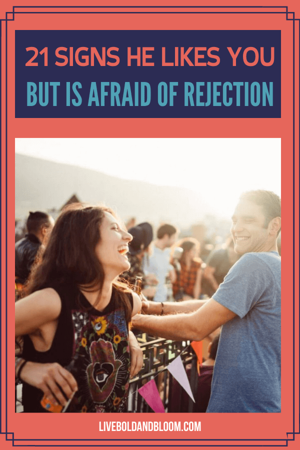 Do you think someone you know likes you? In this post discover the clear signs he likes you but is afraid of rejection.