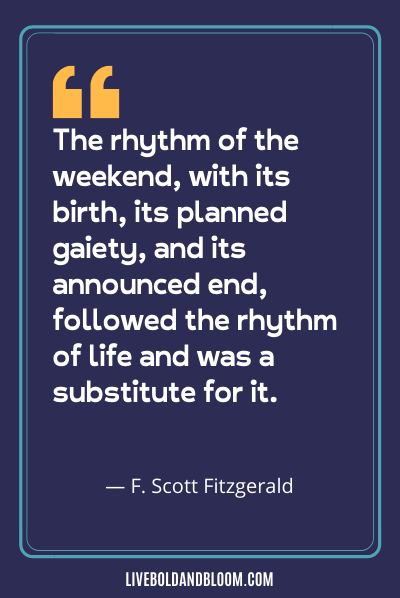 a quote by F. Scott Fitzgerald happy friday quotes