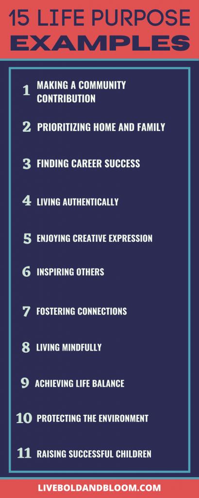 life purpose examples
