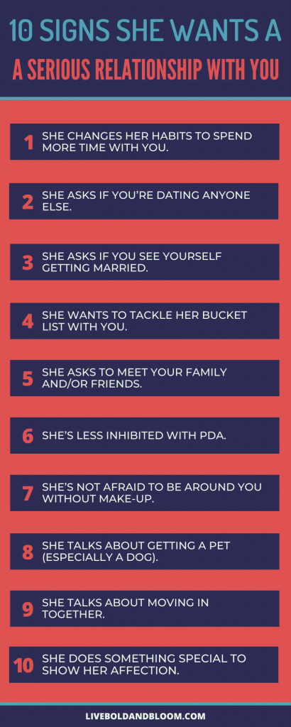 signs she likes you