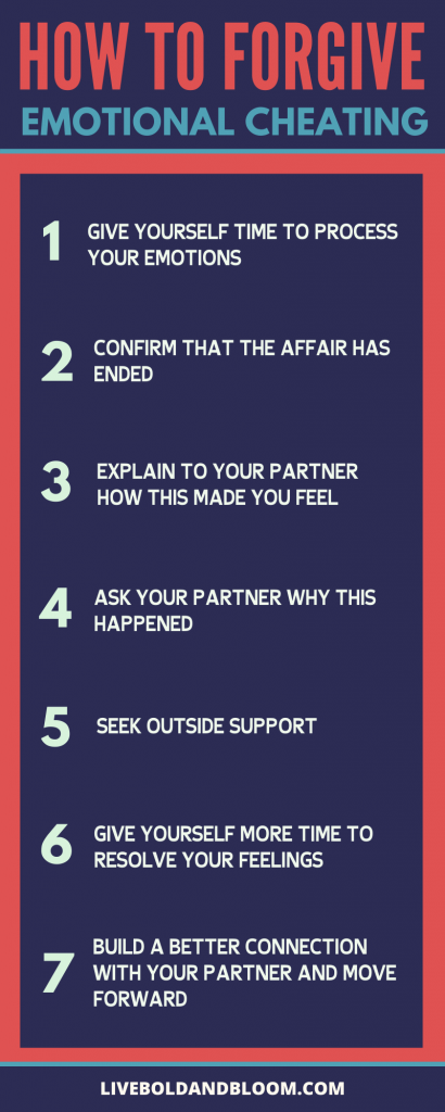 Is it possible to forgive someone who has cheated on you? In this infographic, you will learn tips on how to forgive an emotional cheater.