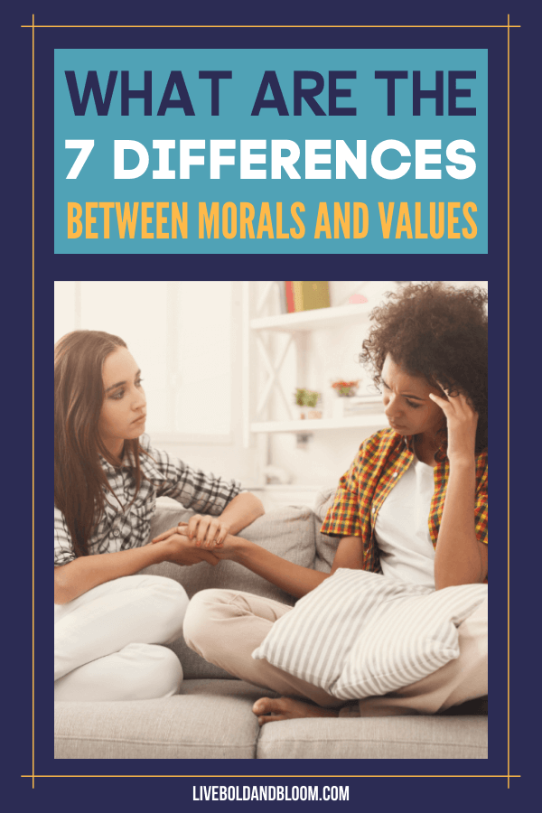 Ever wondered what makes morals different from values? Read this post about morals vs values and learn more about these two.
