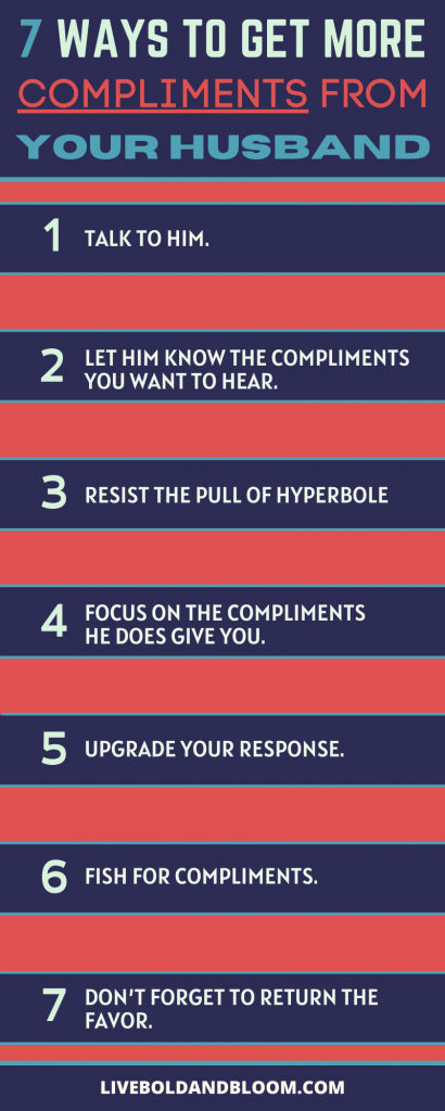 infographic for ways to compliment your husband